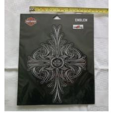 """Harley Davidson Studdet Cross Patch 6,3"""" x 7,9"""""""