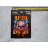Harley Davidson nášivka lebka, 10,5 cm x 14 cm