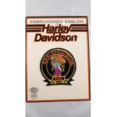 Harley Davidson malá nášivka 70. léta holčička 7,5cm
