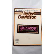 Harley Davidson malá nášivka 70. léta růžový nápis 10cm