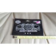 Harley Davidson malá nášivka lebky Skull 11,5cm
