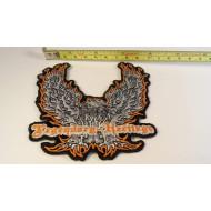 Harley Davidson nášivka orel v plamenech Legendary-Heritage 11cm
