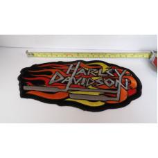 Harley Davidson velká nášivka HD výfuky 21cm