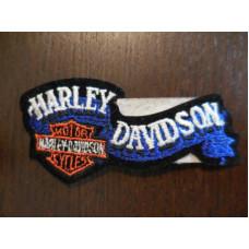 "Harley Davidson Blue Banner 4"" Patch"