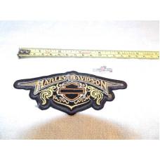 "Harley Davidson Bar&Shield logo ornament 5"" 80's Patch"