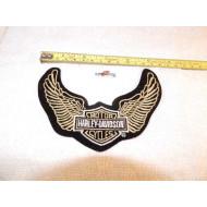 Nášivka Harley Davidson logo s křídly 80. léta 14cm