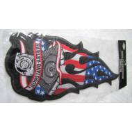 Harley Davidson velká nášivka na rukáv (k našití nebo nažehlení)