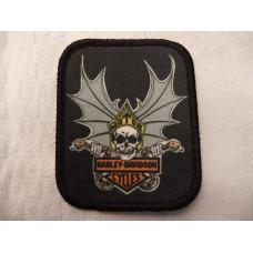 Harley Davidson skull and snake black patch
