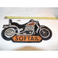 Velká nášivka motocykl Harley Davidson Softail 80. léta, 25cm