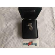 Harley-Davidson Women's Bling Heart Ruthenium Bar & Shield Necklace HDN0435