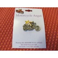 Odznak strážný anděl na motorce - ochrana motorkáře