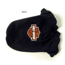 Harley Davidson Black Bar & Shield Logo Dog T-Shirt Medium