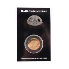Harley Davidson 100th Anniversary Celebration Pin-Coin Set Capitol Drive