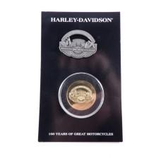 Harley Davidson 100th Anniversary Celebration Pin-Coin Set Celebration