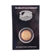 Harley Davidson 100. výročí sada mince a odznáček Juneau Avenue