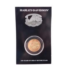 Harley Davidson 100th Anniversary Celebration Pin-Coin Set Juneau Avenue