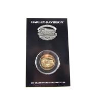 Harley Davidson 100th Anniversary Celebration Pin-Coin Set Kansas City
