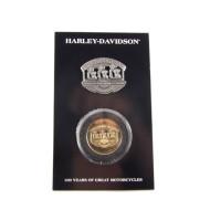 Harley Davidson 100. výročí sada mince a odznáček Pilgrim Road