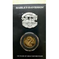 Harley Davidson 100. výročí sada mince a odznáček York