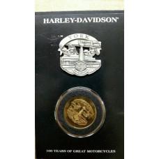 Harley Davidson 100th Anniversary Celebration Pin-Coin Set York