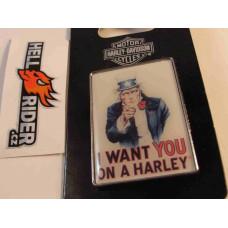 Harley Davidson I Want You on Harley Pin