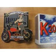 139263 Harley Davidson Vintage Pin-Up Girl Pin