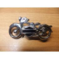 Dámský odznáček Harley Davidson motocykl - černé logo