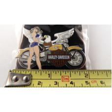 76228 Harley Davidson Biker Babe and eagle Pin