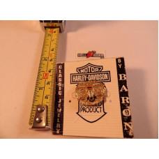 Mini pozlacený odznáček Harley-Davidson Raw Steel buvol od Baron