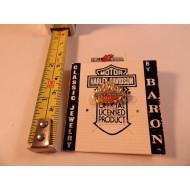 Mini pozlacený odznáček Harley-Davidson logo s plameny od Baron