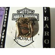 Mini pozlacený odznáček Harley-Davidson orlí pera Bar&Shield Logo od fy Baron