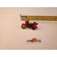 Moto odznak kovový - Harley červená Electra Glide