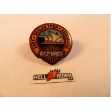 1995 Harley Davidson Dealer Tour Australia Pin