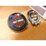 Harley Davidson Pin USA Dealer Meeting Pin