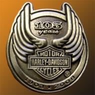 Odznáček Harley Davidson - 105. výročí 96954-08V
