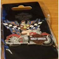 Harley Davidson - Biker Babe Racing Pin