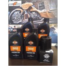 4 Litres Harley-Davidson Motorcycle Oil Change Kit - Black Oil Filter, O-ring