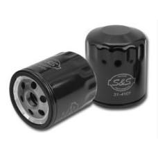Černý olejový filtr pro Harley-Davidson Twin Cam od S&S