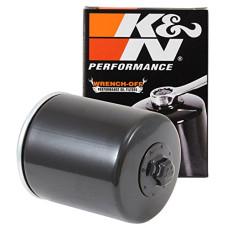 Černý olejový filtr s matkou pro Harley-Davidson EVO Sportster KN-170