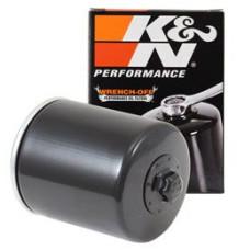 Černý olejový filtr s matkou pro Harley-Davidson Softail Dyna Electra Road King KN-171B