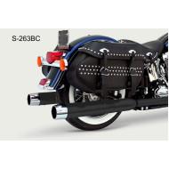Laděné výfuky koncovky Samson pro Harley Davidson Softail S-263B