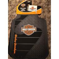 Harley Davidson Car floor mats front set Bar Shield Logo 2pcs