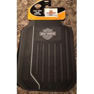Harley Davidson Car floor mats front set White Bar Shield Logo 2pcs