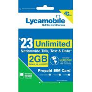 Předplacená americká USA sim karta data 2GB + volání zdarma do ČR a po USA na 1 měsíc od Lycamobile