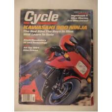 Biker Magazine Cycle Kawasaki 900 Ninja, Honda CB700SC, Yamaha YZ250L 1984
