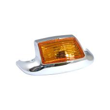 Front Fender Tip Amber Lens Chrome Light Harley Davidson 1980-1999