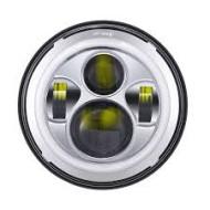 "EU approved LED Headlamp for Harley Davidson Electra Fatboy Heritage E-mark 7"" chrome"