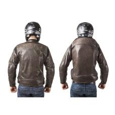 Pánská hnědá kožená airbagová bunda Helite pro motorkáře