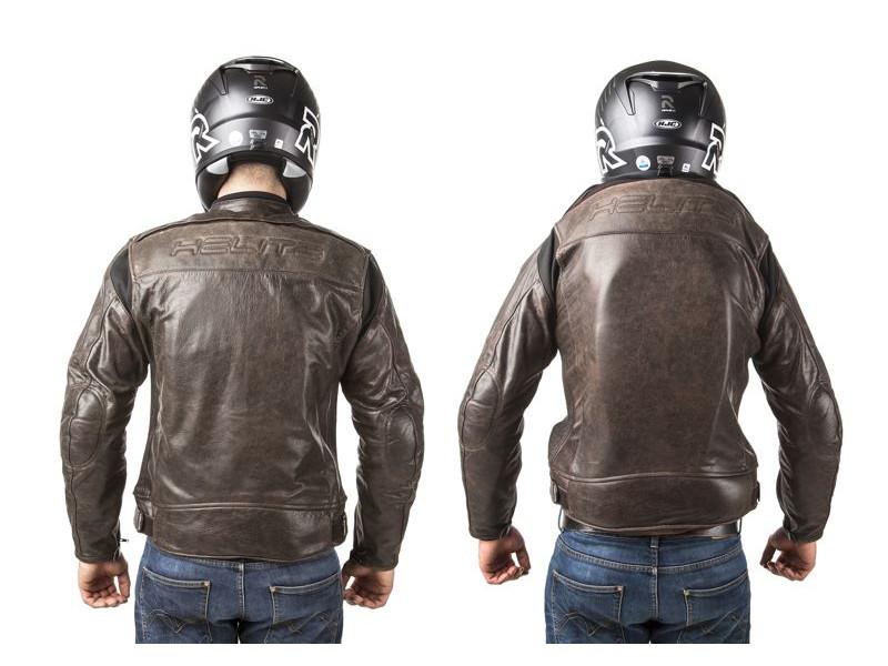 Pánská hnědá kožená airbagová bunda Helite pro motorkáře - ROADSTER - ea305676a34