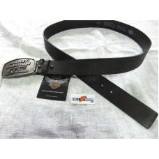 Černý kožený pásek Harley Davidson, 115. výročí, šířka 35 mm